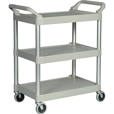 Rubbermaid – Chariot utilitaire 3 étagères en plastique, service léger, gris