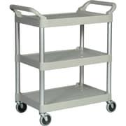 Rubbermaid Light Duty 3-Shelf Plastic Utility Cart, Gray