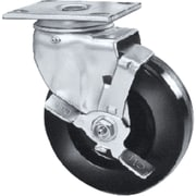 "Heavy-duty Emaxx Kingpin Casters, Wheel Dia"", 5, Swivel, Swivel W/brake"