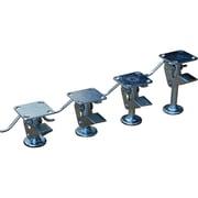 "Floor Lock Brakes, Extended Height"", 6 7/8, Standard Duty Floor Lock Brakes, Retracted Height"", 5 3/4"