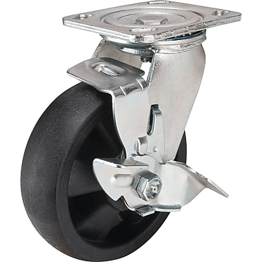 Hi-temp Nylon Casters, Caster Type, Butterfly Side Brake, Butterfly Side Brake Hi-temp Casters, Tread Width, 1 3/4