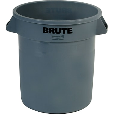 Round Brute Containers, Grey, 3/Pack