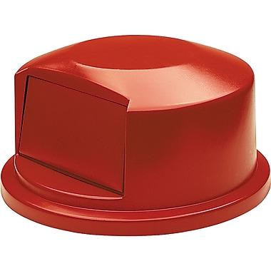 Couvercles Brute ronds, 24 13/16 dia. x 12 19/32 haut. (Po), rouge, 16 lb