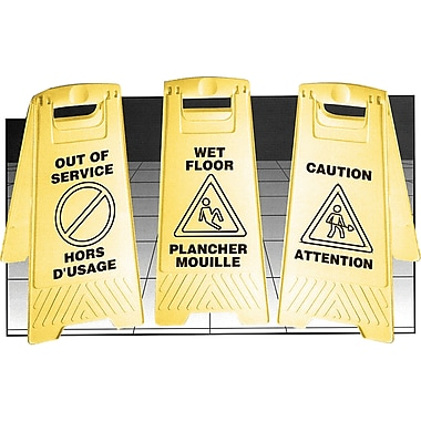 Bilingual Safety Signs, NC547, No Entry/Entr e Interdite, 4/Pack