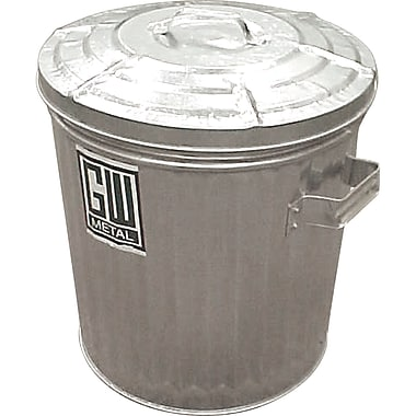 Galvanised Garbage Cans, Standard Cans, Cap. Gal., 9, 2/Pack