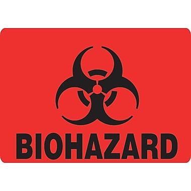 Step Cans, Bio Hazard Decal, 12/Pack
