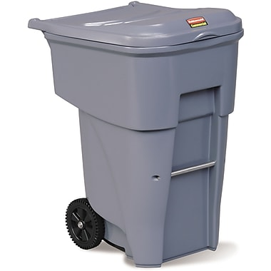 BRUTE Roll Out Containers, 95 US Gallon, Grey