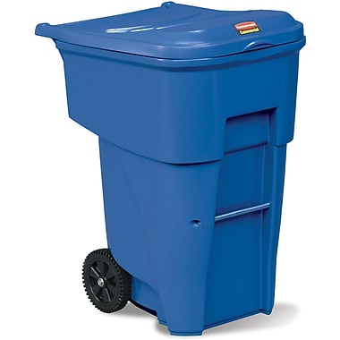 Brute Roll Out Containers, 95 US Gallon, Blue