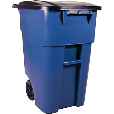 BRUTE Roll Out Containers, 50 US Gallon, Blue