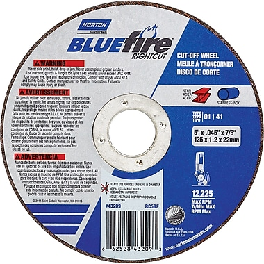 Norton Blue Fire Cut-off Wheel Type 01, No015
