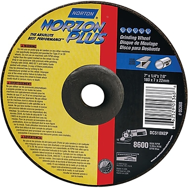 Depressed Centre Grinding Wheels, Norzon Plus Type 27, 12/Pack