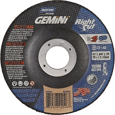 Right Angle Grinder Reinforced Cut-off Wheels, Rightcut Evo, Qty/pk 36, Ns094