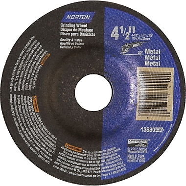 Depressed Centre Grinding Wheels, Norton Metal Type 27, Qty/pk, 36, Ns134