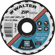 Zip Stainless Right Angle Grinder Reinforced Cut-off Wheels, Qty/pk 12, Ns772