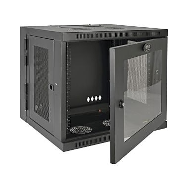 Tripp Lite – Armoire montage SmartRack SRW10USG, 10U de largeur version, fixation murale pour commutateur LAN, noir (SRW10USG)