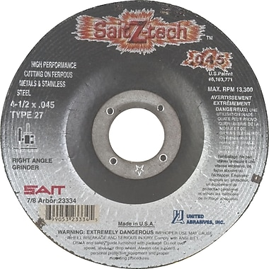 Cutting Wheel,4-1/2x.045x7/8,z-tech,zirc,type 27