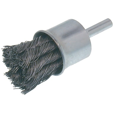 Economy Knot Wire End Brush, Steel, 12/Pack