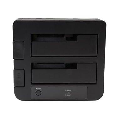 StarTech ® Station d'accueil USB 3.1 2e gén. (10 Gbit/s) pour disque dur SATA SSD/HDD de 2,5 et 3,5 po avec UASP, 2 baies