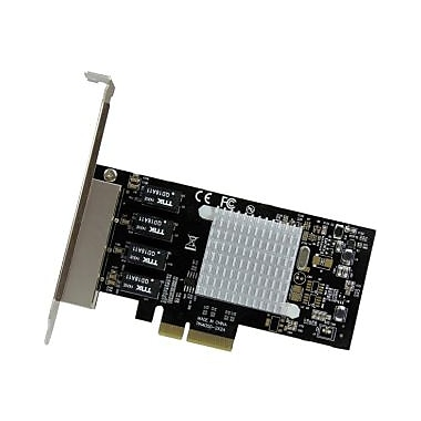StarTech® 4Port Gigabit Ethernet Network Card, PCI Express, Intel I350 NIC, PCI Express x4, 4 Port(s), (ST4000SPEXI)