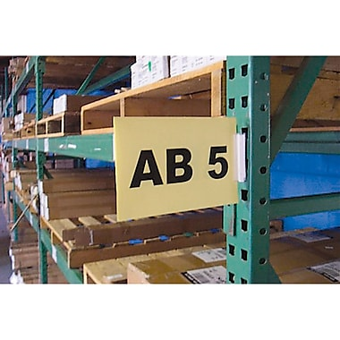 Warehouse Aisle Sign Kits, Self-Adhesive, 2/Pack