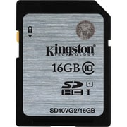 Kingston® SD10VG2/16GB Class 10 UHS-I 16GB SDHC Flash Memory Card