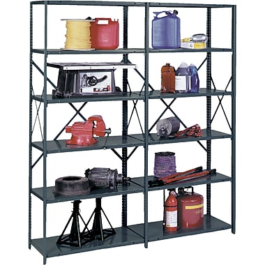 Heavy-Duty Ultracap Steel Shelving, Extra Shelves, RL244, 3/Pack