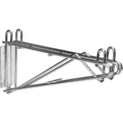Chromate Wire Shelving, Direct Wall Mounts, RL613, 5/Pack