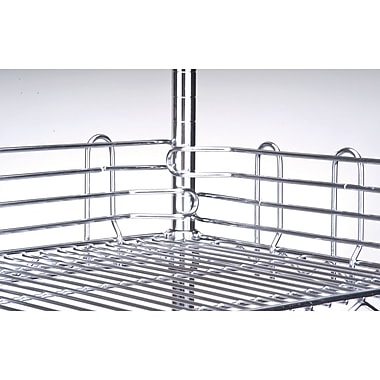 Chromate Wire Shelving, Ledges for Shelf, RL620, 6/Pack