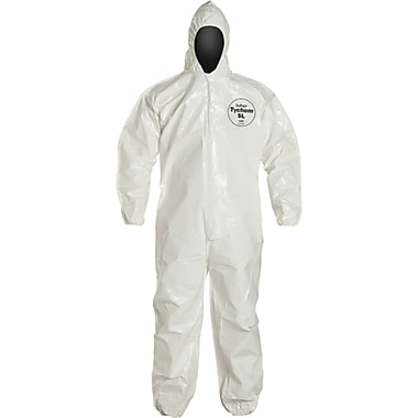 Tychem Sl Coveralls, Sa193, Large, 3/Pack