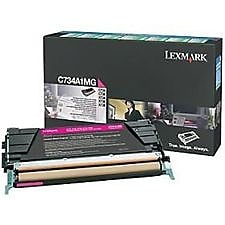 Lexmark (C734A4MG) Magenta Standard Yield Return Program Toner Cartridge for C73X Series Printers
