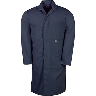 Lab Coat 65%poly 35%cot,navy, Size: 42, 2/Pack