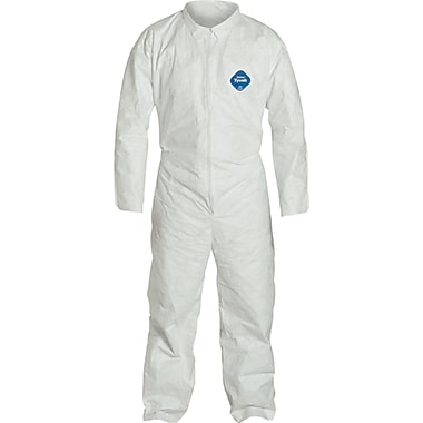 Tyvek Coveralls, Sas030, X-Large, 12/Pack