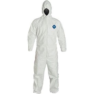Tyvek Coveralls, Sas045, 2X-Large, 6/Pack