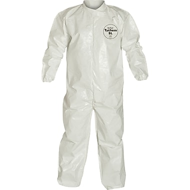 Tychem Sl Coveralls, Sas059, 2X-Large, 3/Pack