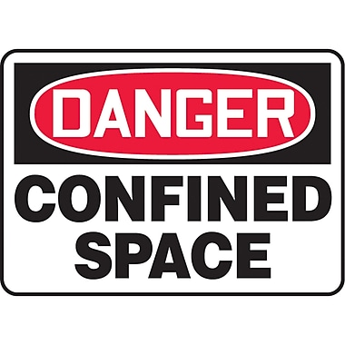 Accuform Signs® English Confined Space, SAT506, Confined Space, 4/Pack