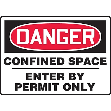 Accuform Signs® English Confined Space, SAT535, Confined Space, 6/Pack
