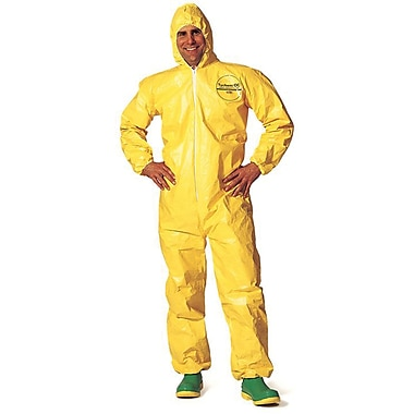Coverall Tychem Qc Hoodserged Seam Yellow, 2xl, 4/Pack