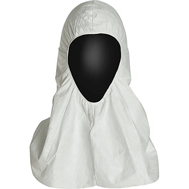 Tyvek Protective Clothing, Pullover Hood, One Size, 100/Pack