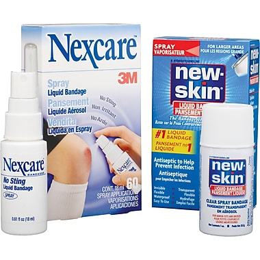 Nexcare No Sting Liquid Bandage Spray, 5/Pack