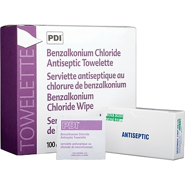 Lingettes antiseptiques de chlorure de benzalkonium, SAY433, 1200/paquet