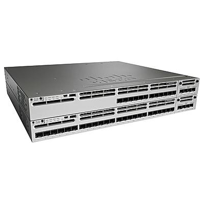 Cisco™ Catalyst WS-C3850-24S-E 24 Port Gigabit Ethernet Rack Mountable Switch, Black