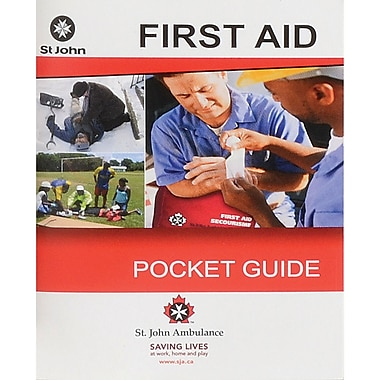 St. John Ambulance First Aid Guides, Bilingual, 24/Pack
