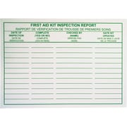 First Aid Kit Inspection Report Cards, Bilingual, 25/Pack