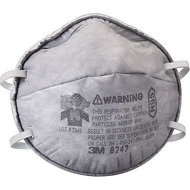 8247 R95 Particulate Respirators, SE264, 20/Pack