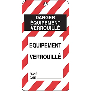 Honeywell French Lockout Identification Tags, SE339, Lockout Identification Tag, 50/Pack