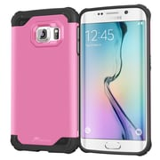roocase Armor Case Cover for Samsung Galaxy S6 Edge, Coral Pink (RC-SAM-S6E-ET-PI)