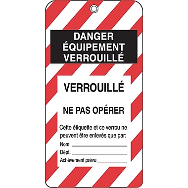 Honeywell French Lockout Identification Tags, SE343, Lockout Identification Tag, 50/Pack