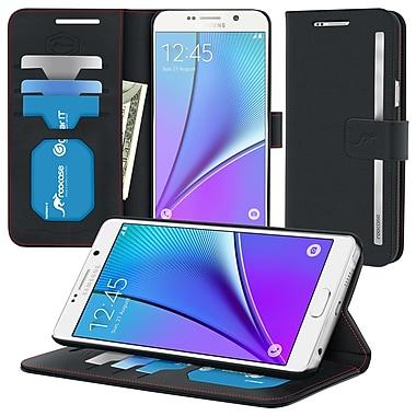 roocase Prestige Folio Case Cover for Samsung Galaxy Note 5, Black (RC-SAM-NOTE5-FOL-PR-BK)