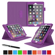 "roocase RC-APL-MINI4-DV-PR Dual View Leather Case for 7.9"" Apple iPad Mini 4, Purple"
