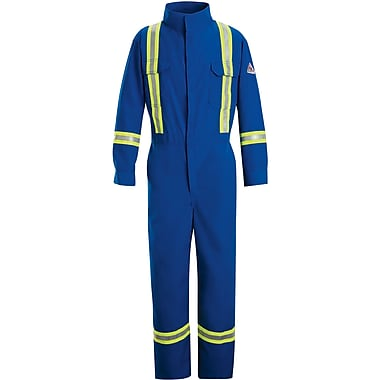 Flame-Resistant Premium Coveralls with Reflective Trim, 44